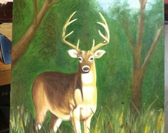 White Tailed Deer Original Oil Painting