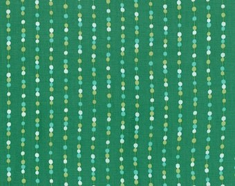 SALE - Color Me Happy - Beads in Emerald Green: sku 10825-14 cotton quilting fabric by V and Co. for Moda Fabrics - 1 yard