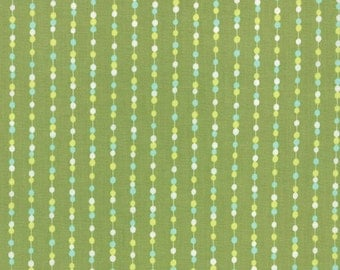 SALE - Color Me Happy - Beads in Lime Green: sku 10825-15 cotton quilting fabric by V and Co. for Moda Fabrics - 1 yard