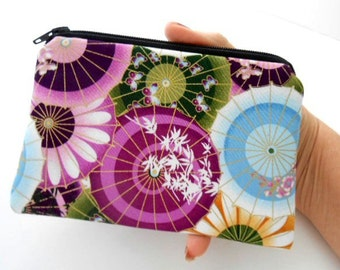 Plum Mariko Little Zipper pouch Coin Purse Gadget Case ECO Friendly Padded