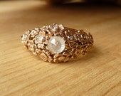 Rose Gold Diamond Floral Ring-Reserved for Y