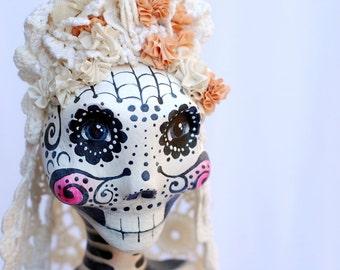 OOAK Day of the Dead Bride Doll Amada Perdida Mixed Media Art Doll