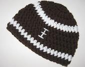 Baby Boy Hat, Football Beanie, Crochet Baby Hat, Football Hat, Baby Newborn Hat, Baby Hat, Newborn Prop, Ready to Ship, Baby Boy Beanie