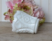 Vintage Imperial Glass Toothpick Holder, Milk Glass,