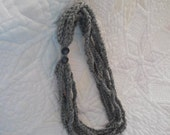 Grey Crocheted Scarf- Perfect for Spring or Summer - Makes a Great Gift, Perfect Summer Scarf