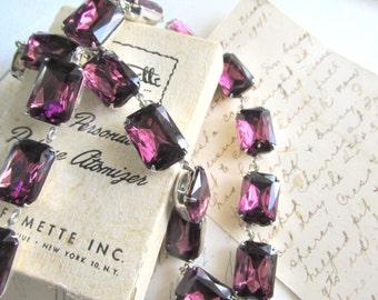 "purple statement necklace, collet necklace, Anna Wintour necklace, amethyst necklace. ""Rhapsody"""