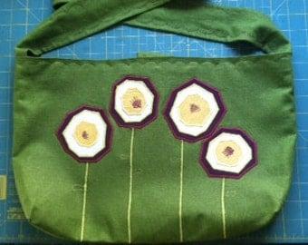 Violet Flower Tote/Laptop Bag