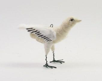 Vintage Inspired Spun Cotton Little Sparrow Figure/Ornament