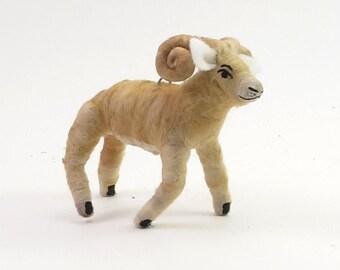 Vintage Inspired Spun Cotton Ram Ornament/Figure