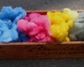 Babydoll Southdown Wool...Dyed Blue Pink Yellow Sage 1 OZ ...1/4 OZ Each