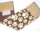 Custom Sized Male Dog Belly Band Wrap Diapers Bands PAWS ON BROWN