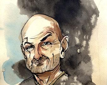 8.5x11 Print  John Locke from Lost