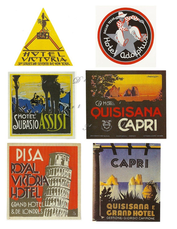 Luggage Labels Vintage 108