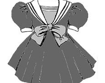"23"" My Twinn Sailor Dress - doll clothes sewing pattern pretty PDF 70204"