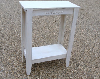 Entryway Table Console Table Wood Table Sofa Table French Country Cottage Antique White Custom