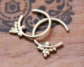 Tiny gold hoop earrings, huggie hoop earrings gift, huggie hoops, huggie earrings, recycled 14k gold earrings, 14k gold earing ready to ship