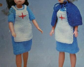 Knitting Pattern For Nurse Doll : Knitting Patterns Doll Nurse Uniform Robin 13078
