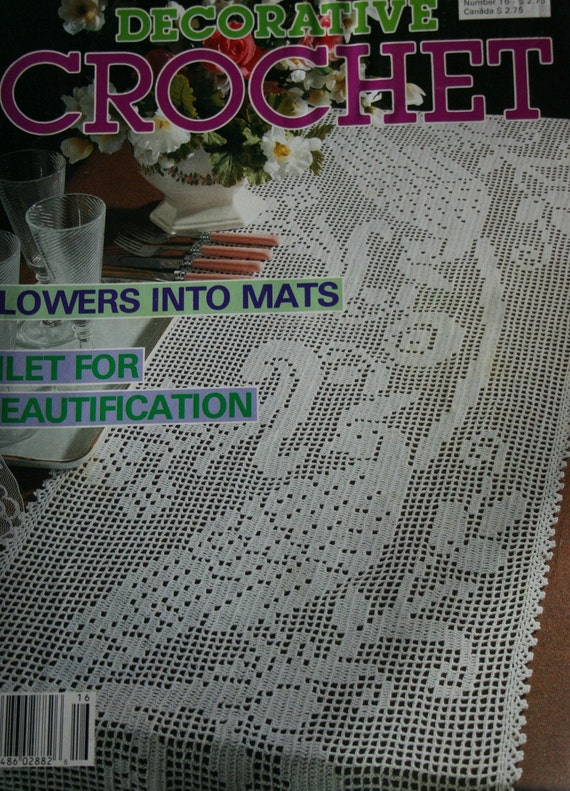 Crochet Patterns Decorative Crochet Magazine July 1990 Doilies Runners ...