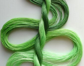 "Size 50 ""Celery"" hand dyed thread 6 cord cordonnet tatting crochet cotton"