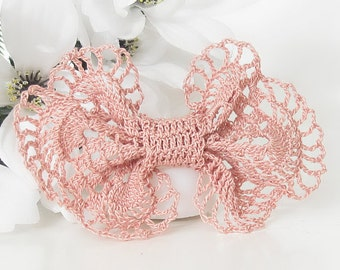Mauve Hair Bow for Girls, Teens, Women, Victorian Inspired Lace Hairpiece, Hair Accessories
