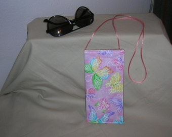 Eyeglass Case Hanging Soft Fabric Butterfly