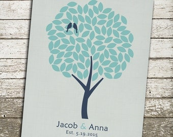Custom Family Tree Wall Art - Gift for Couples, Weddings, Families, Valentines Day, Anniversary