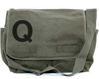 Messenger Bag, Monogrammed Bag, Personalized Bag, Initial, Crossbody Canvas Bag, Personalized Bridesmaids or Groomsmen Gift, Men & Women Bag