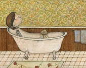 girl in bathtub