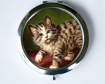 Cat Compact Mirror Pocket Mirror cute kitten