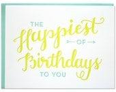 Happiest Birthday Letterpress card