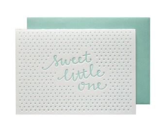 Little One Boy Letterpress Card