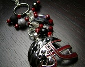 University of Alabama Crimson Tide Enamel Houndstooth Football Helmet Key Chain/Purse Charm
