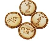Birthday boy/ girl/ age wood pin