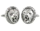 Fierce Lion Cufflinks, Sterling Silver, Handmade