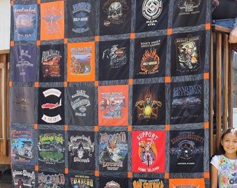 Harley quilt custom made for Dino