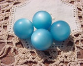 Aqua Teal Moonglow Vintage Lucite Beads