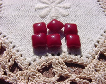 Cinnamon Red Hots Pillows Vintage Glass Beads