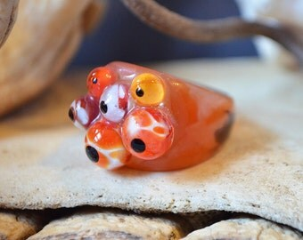 Sunset Glass Eyes Ring