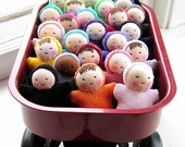 Waldorf dolls - Birthday Party Favors - 8 miniature Pocket babies - natural dolls - Waldorf toy - handmade doll - wholesale