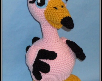 Flamingo Doll Crochet Pattern, bird pattern, crochet flamingo, crochet doll