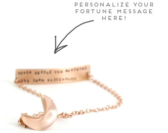 personalize your fortune - fortune cookie bracelet