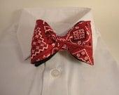 Red Bandana Bow Tie