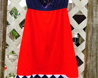 Any Size  Houston Texans Game Day Gameday Tshirt Dress with Chevron