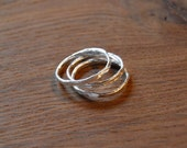 Set of 3 Fine Silver Stacked rings