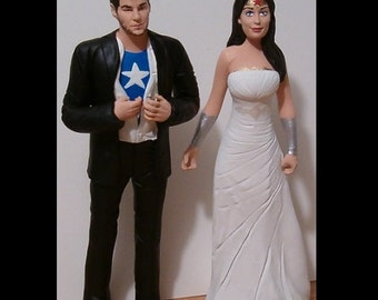 Unique Wedding Cake Toppers Figure set - Custom Made to Your Choice