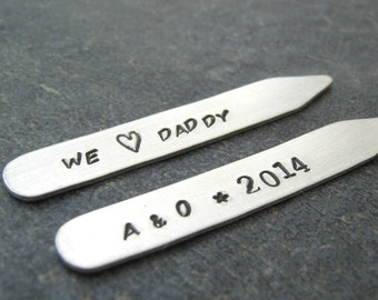 We Love Daddy Collar Stays, Daddy gift, mens accessories, gifts for Dad, Father's Day gift, I Love Daddy gift, Dad gift, Dad collar stays