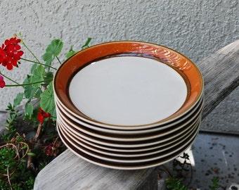 Vintage Mikasa Caribbean Nassua Salad Plates ~ 8