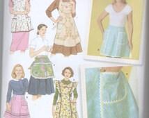 Ladies Half Full Apron Cobbler Rick Rack Bib Pattern UNCUT  S M L