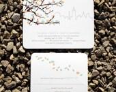 Wedding Invitation Tree Blossoms Modern Spring  - Easton Spring Deposit