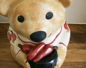 Vintage Cookie Jar Bear Santa Fe Southwest Kitchen & Dining Pottery